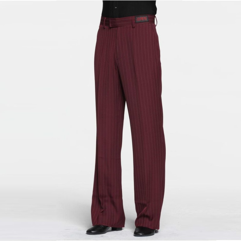Sexy Latin Dance Pants Men's Red Ballroom Dancing Clothes Men Rumba Samba Profession Modern Square Chacha Trousers B-6976 3