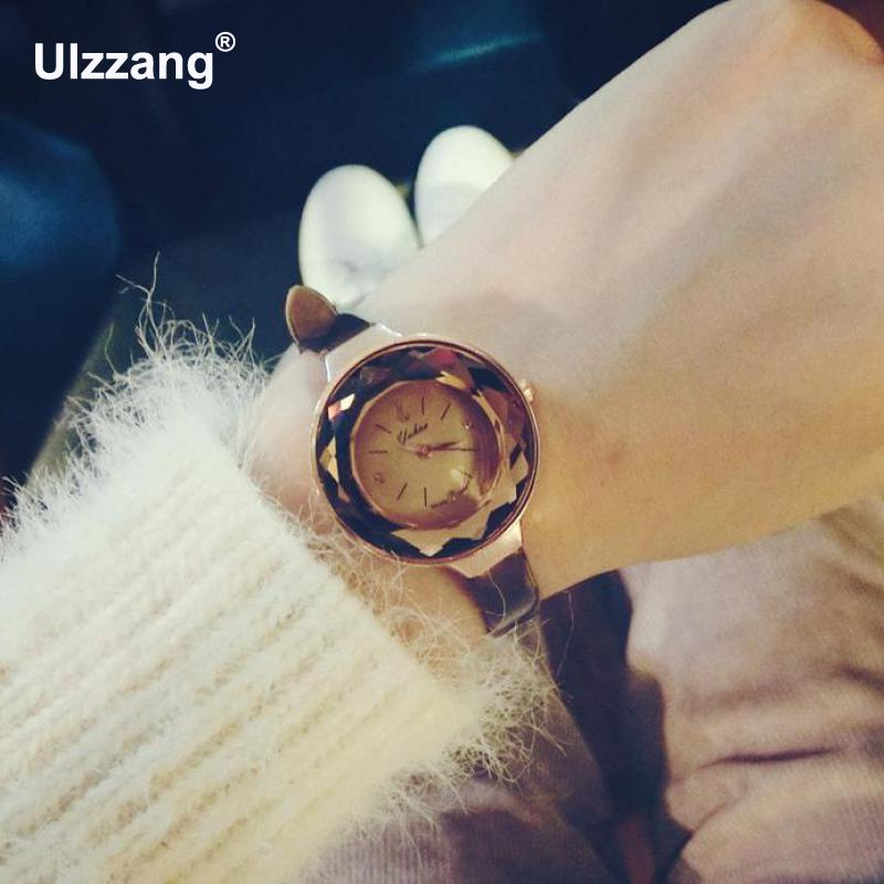 2017 Fashion Gift Women Delicate Creative Slim Strap Wristwatch Brief Design Elegance Quartz Lady Watches Luxury Cutting Mirror цена 2016