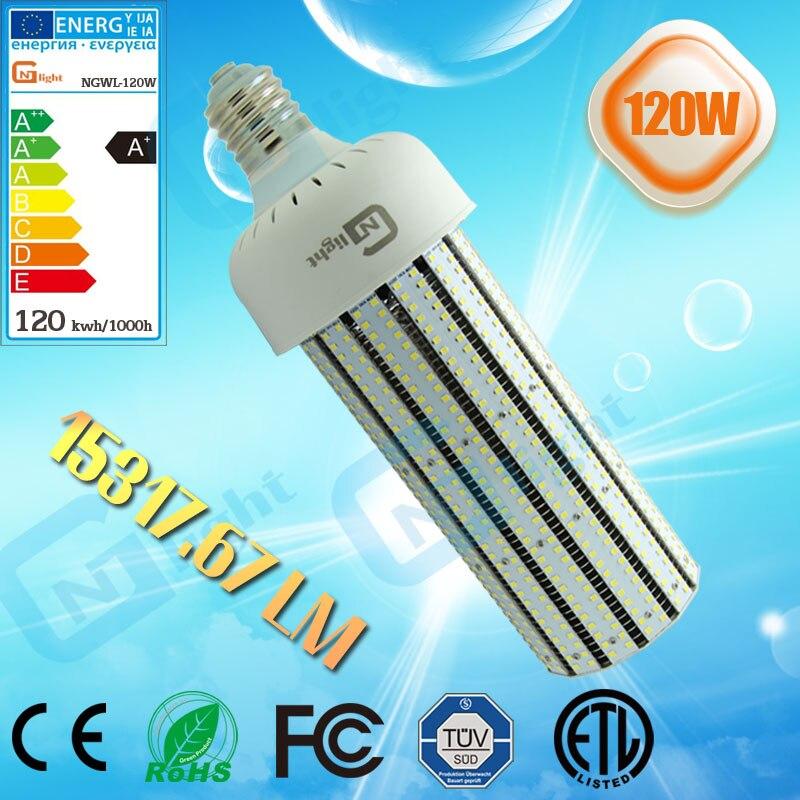400 Watt Led Wall Pack Lights: 480Vac 120W Mogul E39 Base Led Corn Lamp Retrofit 400 Watt