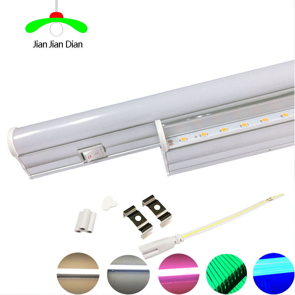 LED Switch T5 Tube Light 30cm 6w 60cm 10w LED Fluorescent Tube T5 Wall Lamps White Warm Pink Green Blue Plant Lamp Spotlight