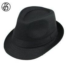 FS Otoño Invierno negro fieltro Fedora sombrero para hombre y mujer Lana  Jazz Trilby Panamá sombreros estilo elegante gorras Cas. 80f65c79faa