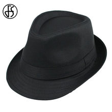 FS Autumn Winter Black Felt Fedora Hat For Male And Female Wool Jazz Trilby Panama  Hats Stylish Style Casual Caps 5015bb0df4db