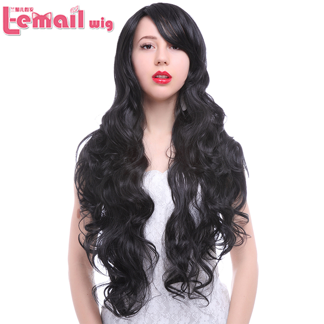 Anime Wigs Long Wavy Curly Black Cosplay Wigs Synthetic Hair Two Color For Black Women