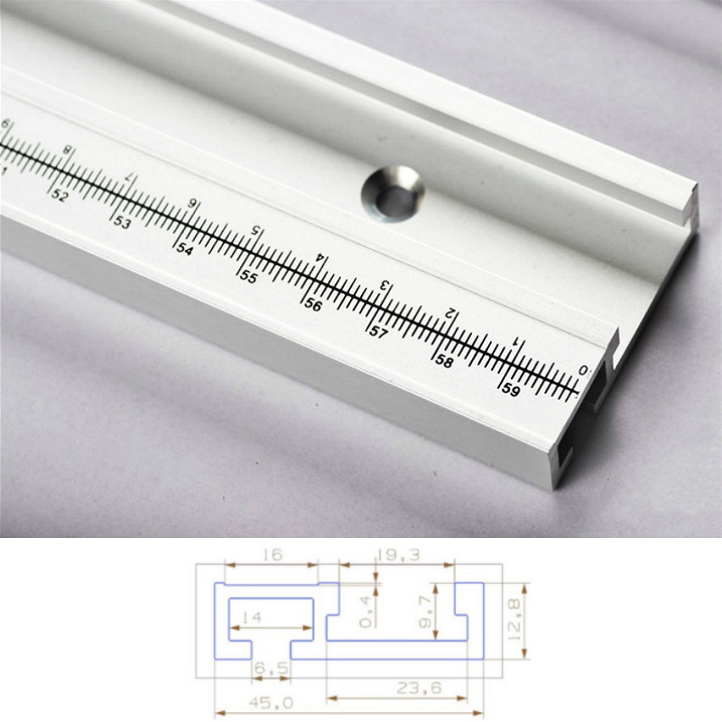 800mm Aluminum Alloy T-Tracks With Scale And Miter Track Stop And T- Slot Miter Bar Track Router Table Saw Woodworking DIY