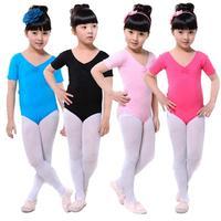 Child Kids Girls Solid Multicolor Slim Ballet Gymnastics Jumpsuit Leotards 3 12Y