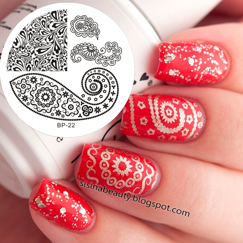 Butterfly Stamping Nail Art : Butterfly nail art stamp template image plate born pretty