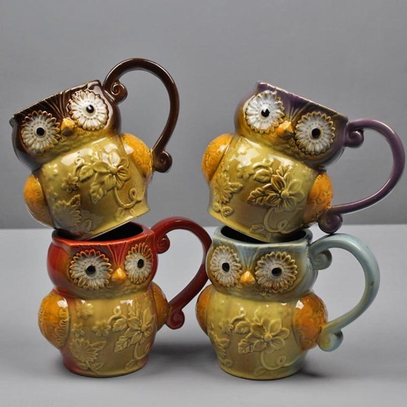 Mug ceramic coffee cup Cartoon Cute  Porcelain Ceramic Tea Coffee Cup Gift