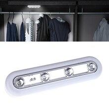 Mini Wireless 4LEDs  Home Closet Garage Attics Night light Wall Motion Lamp LED Touch Sensor Lampe scar 74 мотоцикл germany fan attics