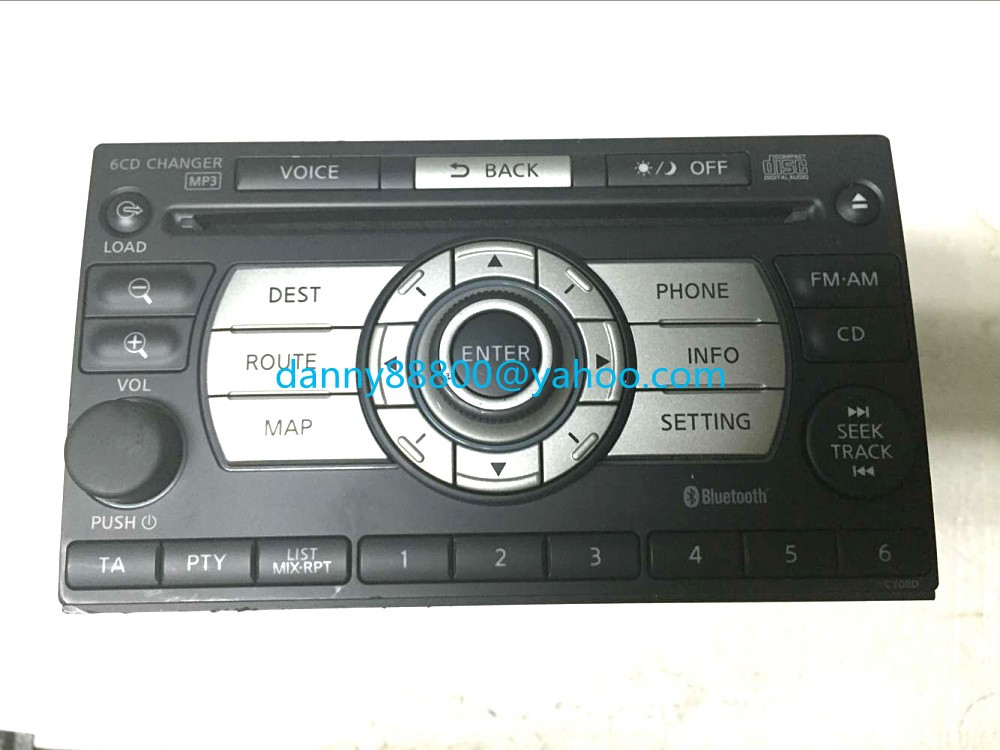 MP3 Bluetooth Car-Radio Clarion X-Trail t31 28185 Changer 2008 JG41A CD CD6K-1450E Xanavi