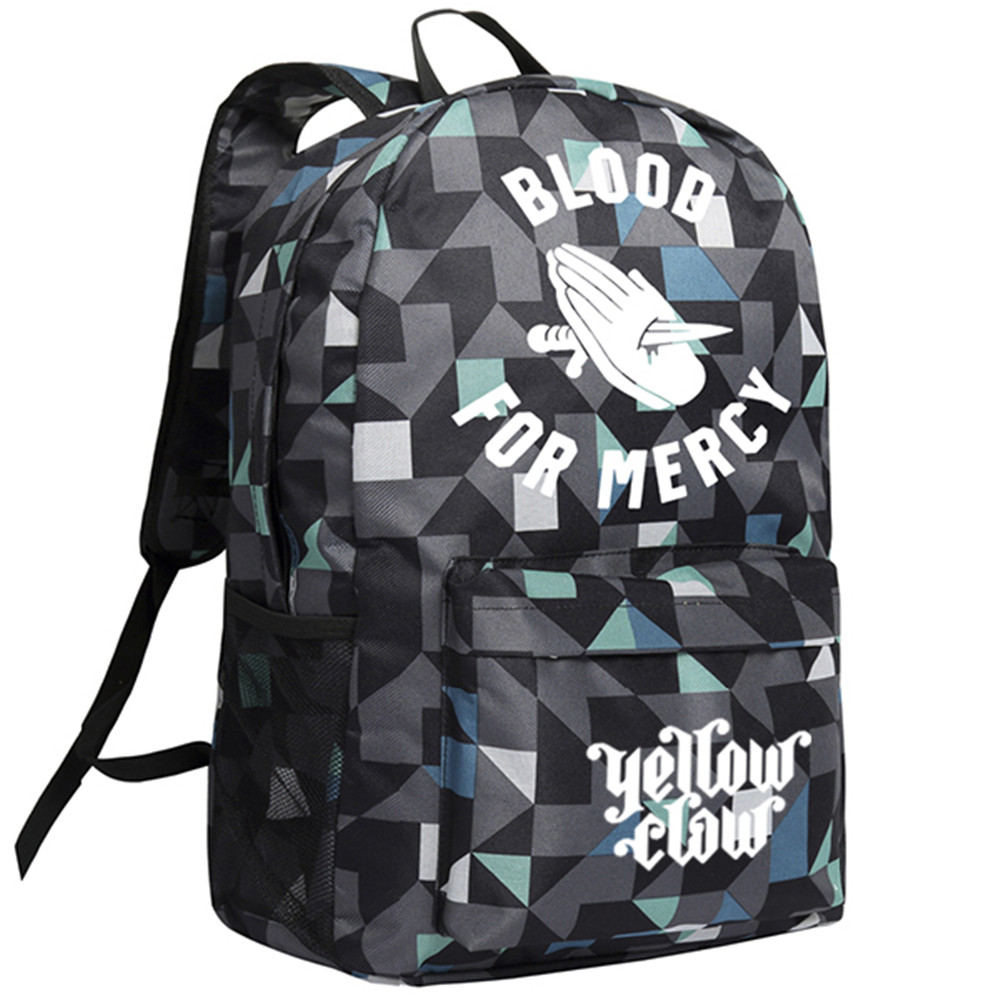 Zshop Yellow Claw Blood for Mercy Backpack Teenagers Schoolbag Boys and Girls Daypack ...