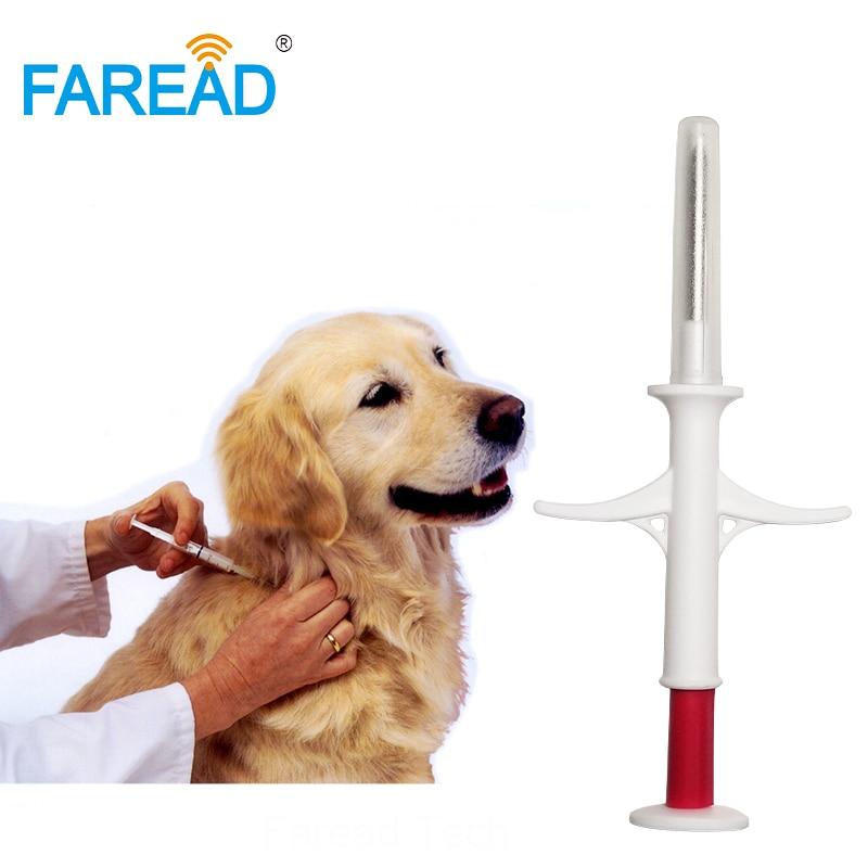 1.4x8mm/2.12x12mm ISO11784/5 FDX-B RFID chip veterinary pet fish injector syringe with implants glass tag Animal ID microchip недорго, оригинальная цена
