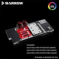 BS ASS2070 PA Barrow gpu water block for ASUS ROG STRIX RTX2070 8G/A8G /O8G GAMING gpu water cooling cooler support sync mobo