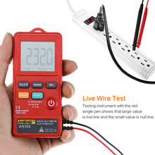 цены AN302 8000 Count Mini Digital Multimeter Portable Slim Card Type multi meter AC DC Voltmeter Ohm Voltage Frequency Multimetre