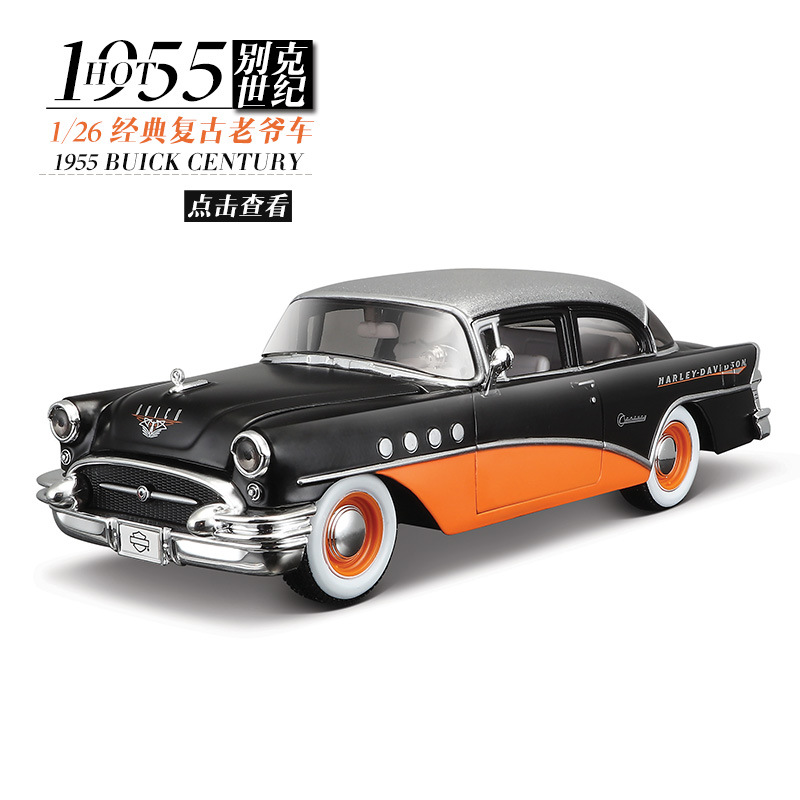 Maisto 1:24 Diecast Metal Model Car Toy For Buick 1955 Century Outlaws Classic Cars New In Original Box Collection For Man Gift