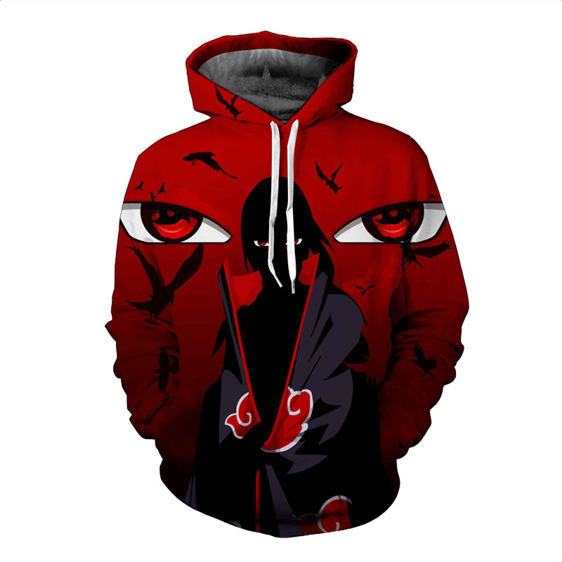 3D Printed Naruto Anime Hoodie Sweatshirt Men Streetwear Hooded Male Sweatshirt Thin 5XL Pullover Mens Tracksuit Hoddies