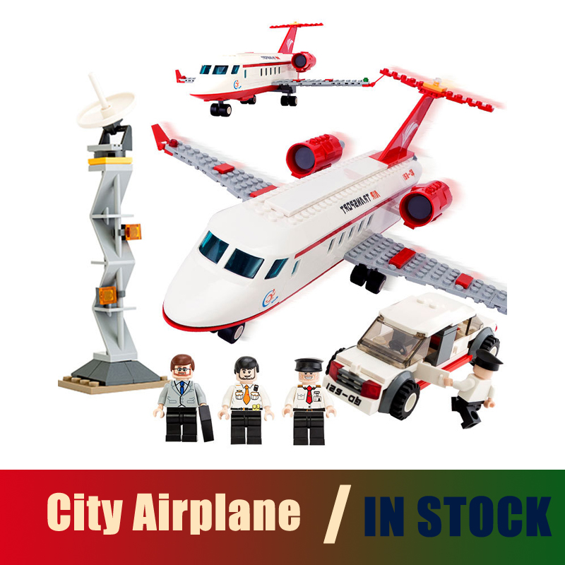 Compatible with lego city 334 pcs Airplane Toy Air Bus Model Airplane Building Blocks Sets Model DIY Bricks Classic Boys Toys