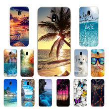 "For Samsung J3 2017 J3(7) Soft Silicone Phone Case Scape Printed Cover For Galaxy J3 2017 J330F SM-J330F DS 5.0"" Case(China)"
