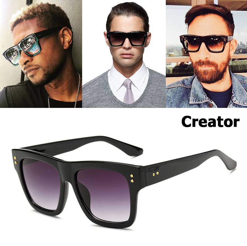 JackJad 2020 New Fashion CREATOR Style Gradient Square Sunglasses Women Men Brand Design Rivet Sun Glasses Oculos De Sol 5673
