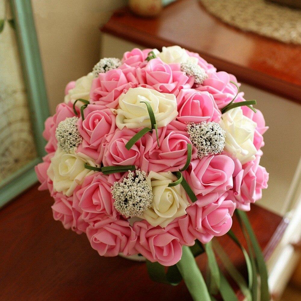 Pink Rose Wedding Bouquets Promotion-Shop for Promotional Pink ...
