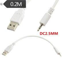 """20 ס""""מ 2.5 מ""""מ זכר ג ק תקע USB 2.0 זכר נתונים Extender כבל אודיו לרכב MP3"""