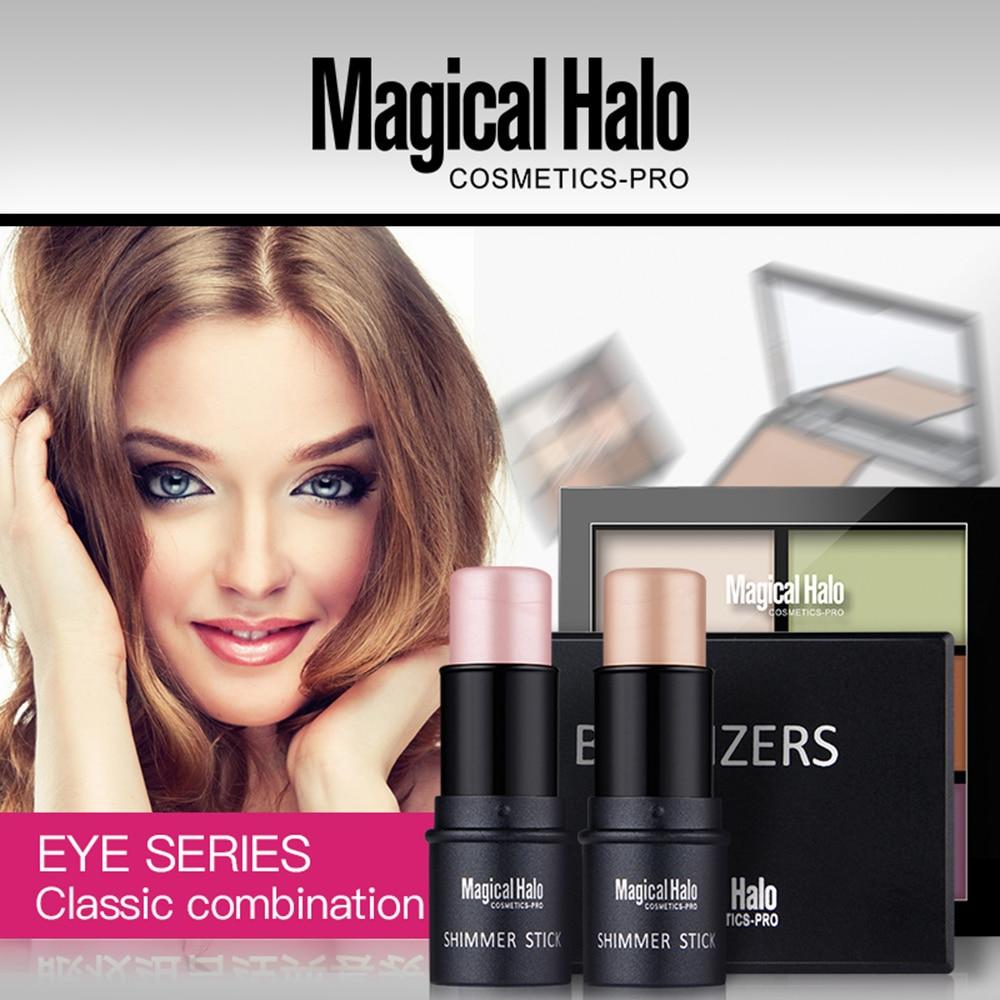 High Qualitity Face Makeup Set Shimmer Stick + Double Color Stereo Bronzing Powder +6 Color Concealer 3 Pcs/set Maquiagem