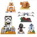Алмазные Блоки R2D2 звездные войны Клон Nano 3D DIY Строительные Кирпичи Игрушки Juguetes Minfigures Действий Рис Детские Игрушки Звездные Войны