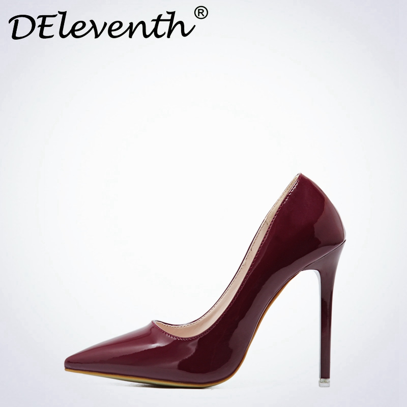 Fashion Ladies Wedding Shoes Women Sexy Stiletto Pointed Toe High Heels Pumps Shoes Red Black White Apricot Wine Color US8.5  40 мойка кухонная elleci easy 135 680x500 granitek 51 lgy13551