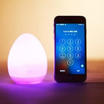 Thrisdar Waterproof Egg Shaped Novelty LED Night Light Smile Face USB Rechargeable Bedside Table Desk lamps for Hotel Restuarant