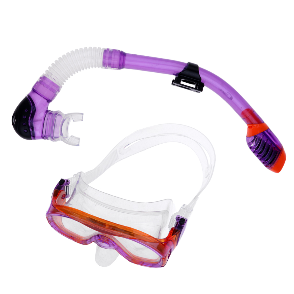 Waterproof Diving Snorkel Tempered Glass Goggles Glasses Mask with Breathing Tube Scuba Set Water Sports SCUBA Snorkeling