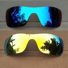 Ice Blue Mirrored&24K Gold Mirrored Polarized Replacement Lenses for-Batwolf Frame 100% UVA & UVB(China)