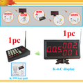 Led sistema de fila / pegue um número máquina chamada de fila sistema de exibição de um teclado para chef e um monitor para o cliente