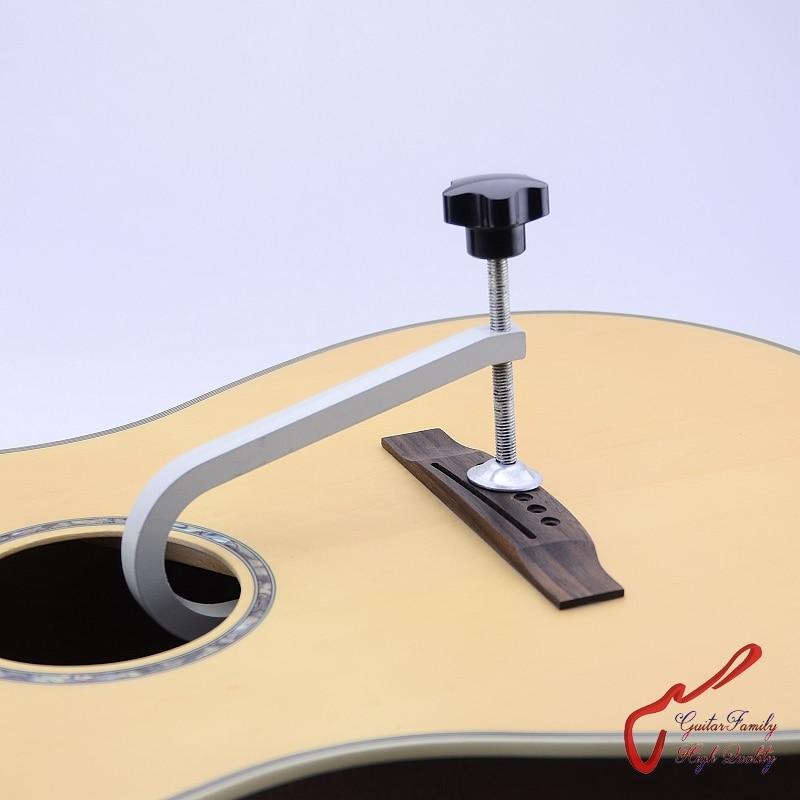 GuitarFamily Cast Steel Deep Throat Clamp For Folk Acoustic Guitar Bridge