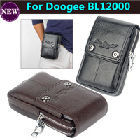 Men Genuine Leather Carry Belt Clip Pouch Waist Purse Case Cover For Doogee BL12000 Mobile Phone