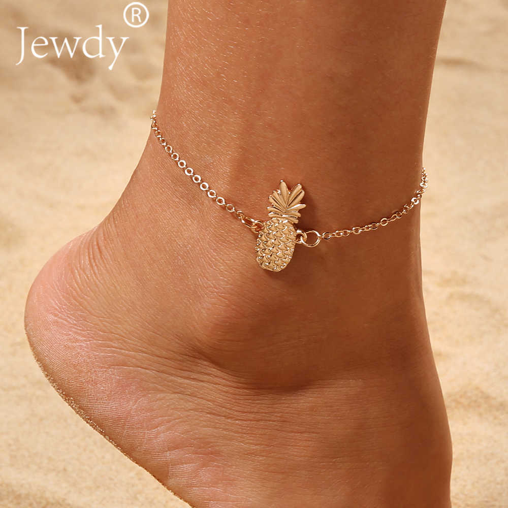 Gold Pineapple Charm Anklet Bracelet for Women 2019 Ankle Sandals Barefoot  Beach Foot Bridal Summer Body 70cc6588e5a7