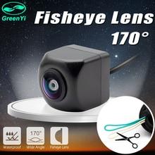 HD 170 градусов CCD Рыбий глаз объектив автомобильный обратный резервный вид камера заднего вида Вид спереди сбоку CCTV автомобильная парковочная камера