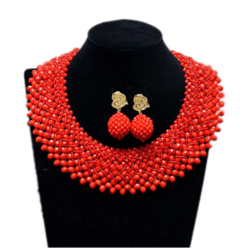 4UJewelry Ladies Celebrity Jewelry Sets Orange Beads Bridal Necklace +Bracelet +Earrings African Wedding Bridal Jewelry Fashion4UJewelry Ladies Celebrity Jewelry Sets Orange Beads Bridal Necklace +Bracelet +Earrings African Wedding Bridal Jewelry Fashion