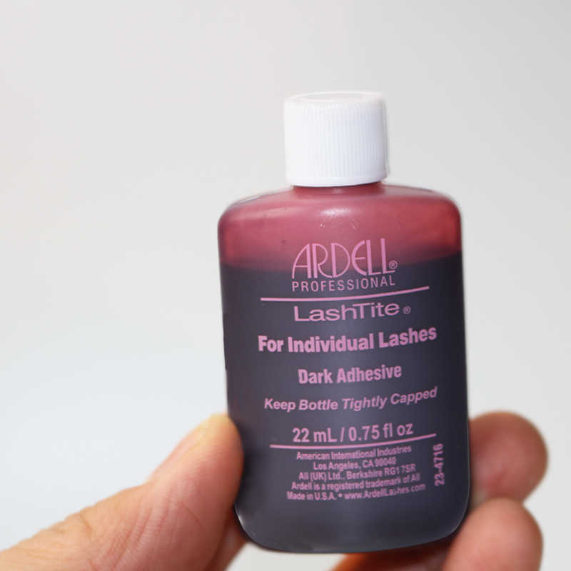 ad583f05e93 ... 1/3/10 bottles Ardel LASHTITE Adhesive for INDIVIDUAL lashes Glue DARK  0.75 fl