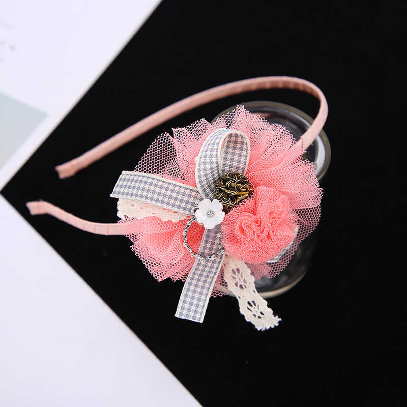 4 Pcs Floral Jantung Anak Hairpin Set Hairbands Gadis Hairgrips Barrettes Clip Pins Aksesoris Rambut Headwear Headband