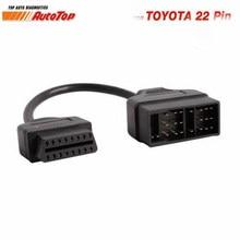 Адаптер OBD2 для Toyota, адаптер с 22-контактным на 16-контактный OBD разъем для Toyota 22-контактный ODB2 кабель для TOYOTA Corolla