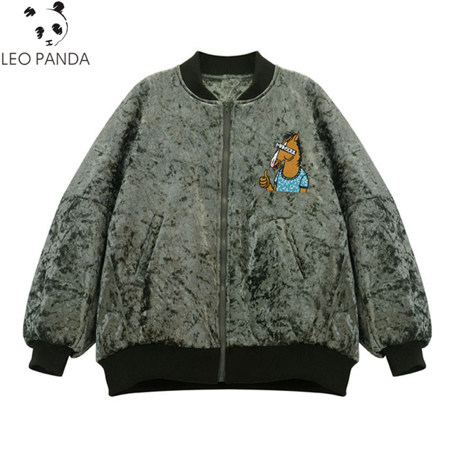Winter Man & Women Cotton Coat Fashion Pleuche Embroidered BoJack ... : quilted jacket plus size - Adamdwight.com