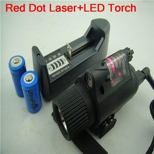2 in 1 Tactical LED Flashlight/Light+Red Laser Sight Dot Scope Combo for Pistols/Shotgun by 2X3V CR123A high quality 2 in 1 tactical insight red laser cree q5 led 300 lumen flashlight sight combo for pistol gun 2x3v cr123a