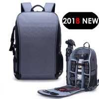 New Style Photo Shoulders Backpack Waterproof Nylon Case fit 15.6 Laptop Bag for Canon Nikon Sony SLR Photography Lens Tripod