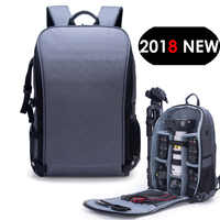 """Nouveau Style Photo épaules sac à dos étui en Nylon étanche fit 15.6 """"pochette d'ordinateur pour Canon Nikon Sony SLR photographie objectif trépied"""