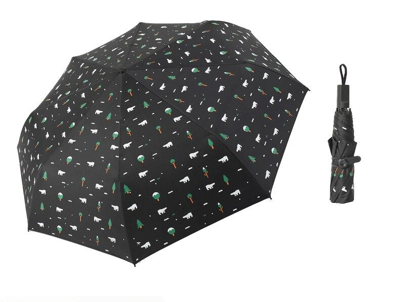 Three Folding Sunscreen Umbrella For Women Sunny Rainy Windproof Anti-UV Umbrella Women Lady Girls Folding Umbrellas (25)