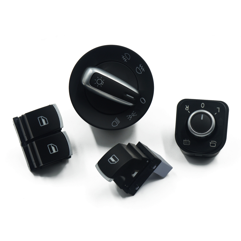 4 шт./комплект, Хромированная кнопка переключения на переднее зеркало и окно, 5K3959857 5ND941431A 5ND959565A 5ND959855 для VW EOS Golf MK5 6 GTI Passat B6