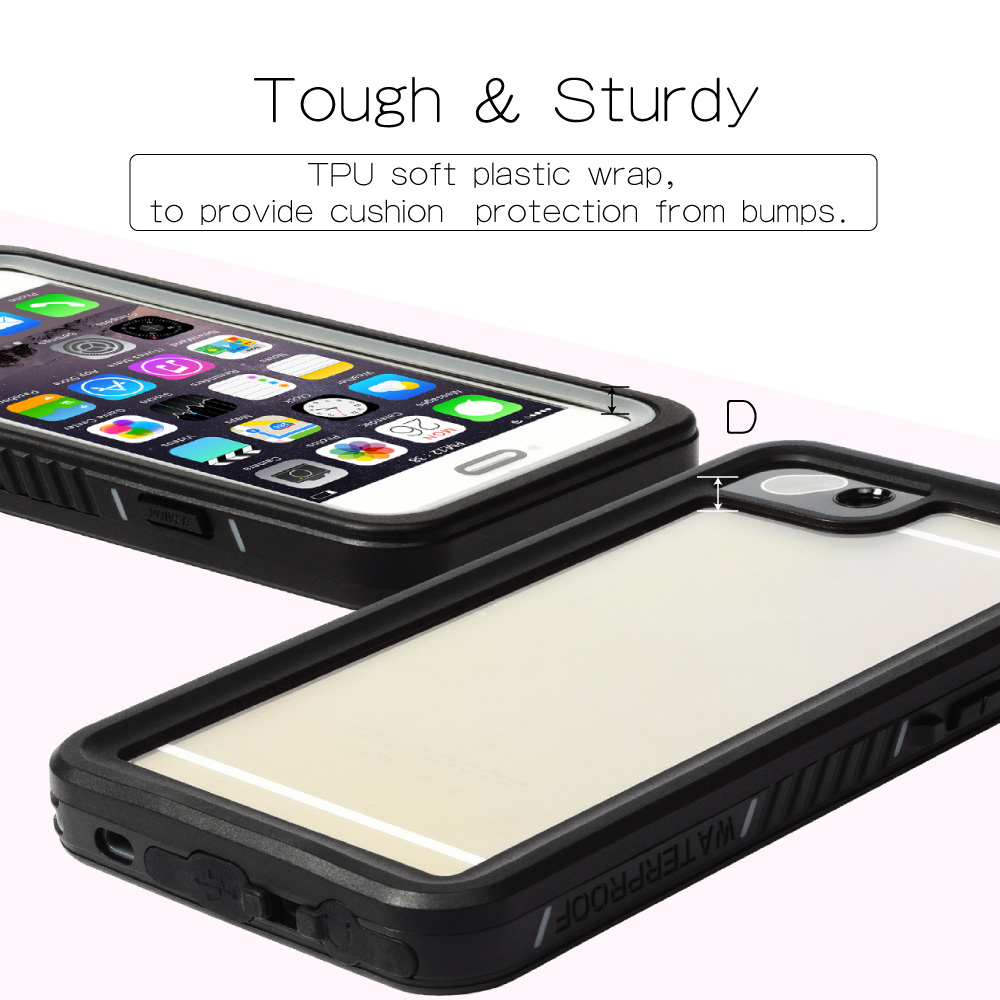 New Arrival Universal Waterproof Case ShockProof IP68 Certified With Touch ID Full Body Cover for iPhone7 6s 6 4 7 quot Cover in Fitted Cases from Cellphones amp Telecommunications