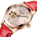 Женские автоматические механические часы в форме сердца  светящиеся водонепроницаемые Модные женские часы  2019