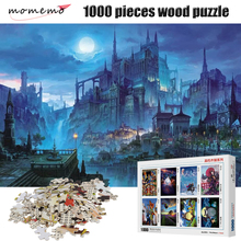 MOMEMO Castle Night Puzzle 1000 Pieces Landscape Figure Wooden Jigsaw Adult Children Educational Toys Gifts Home Decor