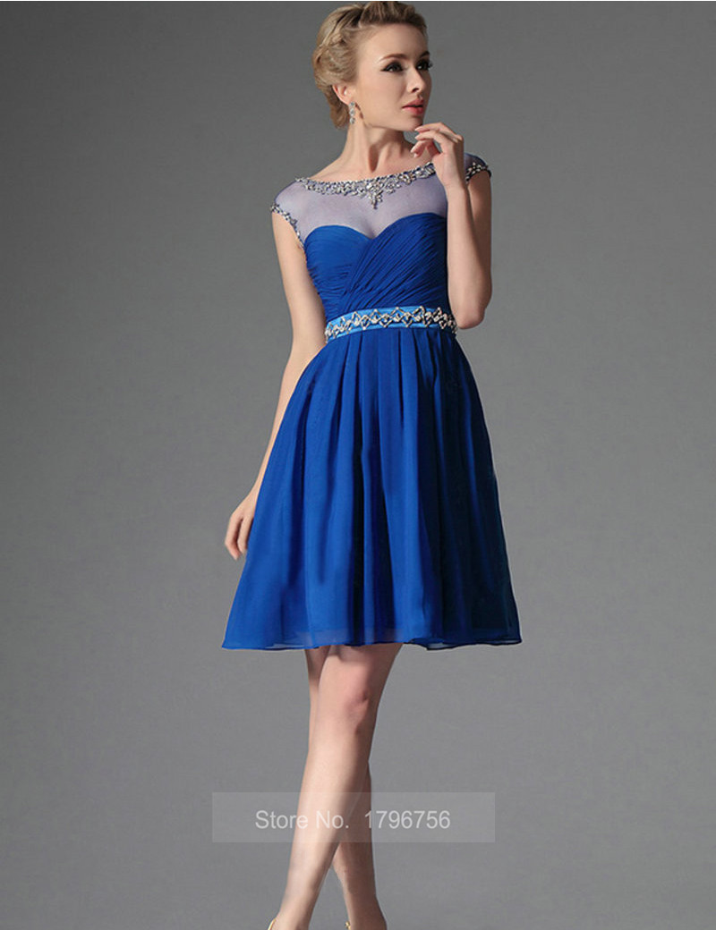 blue cocktail dresses
