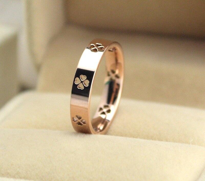 Кольцо YUN RUO в виде цветка клевера на удачу, модные ювелирные украшения из титановой стали 2017, новый дизайн для женщин, бесплатная доставка